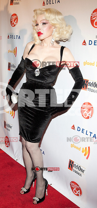 Amanda Lepore at GLAAD Manhattan in New York City.  August 7, 2012.  &copy; Laura Trevino/Media Punch Inc. /Nortephoto.com<br /> <br /> <br /> **SOLO*VENTA*EN*MEXICO**<br /> **CREDITO*OBLIGATORIO** <br /> *No*Venta*A*Terceros*<br /> *No*Sale*So*third*<br /> *** No Se Permite Hacer Archivo**<br /> *No*Sale*So*third*