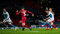 Blackburn Rovers' Joe Rothwell (right) shoots at goal <br /> <br /> Photographer Andrew Kearns/CameraSport<br /> <br /> The EFL Sky Bet Championship - Blackburn Rovers v Nottingham Forest - Tuesday 1st October 2019  - Ewood Park - Blackburn<br /> <br /> World Copyright © 2019 CameraSport. All rights reserved. 43 Linden Ave. Countesthorpe. Leicester. England. LE8 5PG - Tel: +44 (0) 116 277 4147 - admin@camerasport.com - www.camerasport.com