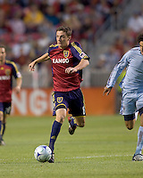 Real Salt Lake midfielder Will Johnson (8) brings the ball upfield. Real Salt Lake tied the Colorado Rockies, 1-1, at Rio Tinto Stadium on June 6, 2009