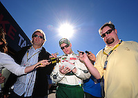 Feb 10, 2008; Daytona Beach, FL, USA; Nascar Sprint Cup Series driver Dale Earnhardt Jr (88) during qualifying for the Daytona 500 at Daytona International Speedway. Mandatory Credit: Mark J. Rebilas-US PRESSWIRE
