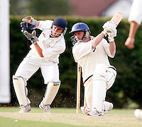 P Monar bats for North London during the Middlesex County League Division three game between Wembley and North London at Vale Farm, Wembley on Sat August 6, 2011