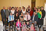 CHRISTENING: Baby Ryan Brady, Aghadoe, Killarney, with his parents Aileen and Alan, sister Allanah and his uncles, aunties and cousins who gathered in the Dromhall Hotel, Killarney, to celebrate his christening on Saturday.   Copyright Kerry's Eye 2008