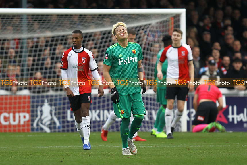 Frustration for Adalberto Peñaranda of Watford during Woking vs Watford, Emirates FA Cup Football at The Laithwaite Community Stadium on 6th January 2019
