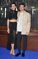 Katherine Waterston and Ezra Miller at the &quot;Fantastic Beasts and Where to Find Them&quot; European film premiere, Odeon Leicester Square cinema, Leicester Square, London, England, UK, on Tuesday 15 November 2016. <br /> CAP/CAN<br /> &copy;CAN/Capital Pictures /MediaPunch ***NORTH AND SOUTH AMERICAS ONLY***