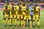 Mali's squad pose for a group picture ahead of the 2017 Africa Cup of Nations group D football match between Mali and Egypt in Port-Gentil on January 17, 2017. Photo by Stranger