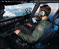 BNPS.co.uk (01202 558833)<br /> Pic: CrownCopyright/AirHistoricalBranch<br /> <br /> 2008 - Flying Officer 'William Wales' at the controls of the C-17 Globemaster during his visit to RAF Brize Norton.<br /> <br /> A new book gives an intimate look behind the scenes of the Royal Flight and also the flying Royals.<br /> <br /> Starting in 1917 the book charts in pictures the 100 year evolution of first the King's Flight and then later the Queen's Flight as well as the Royal families passion for aviation.<br /> <br /> Author Keith Wilson has had unprecedented access to the Queen's Flight Archives to provide a fascinating insight into both Royal and aeronautical history.
