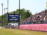 May 6, 2017; Commerce, GA, USA; Detailed view of a Sold Out message on the Sunoco Vision in front of the grandstands during NHRA qualifying for the Southern Nationals at Atlanta Dragway. Mandatory Credit: Mark J. Rebilas-USA TODAY Sports