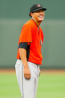 Shortstop Manny Machado #3 of the Frederick Keys during the game against the Winston-Salem Dash at BB&T Ballpark on August 5, 2011 in Winston-Salem, North Carolina.  The Dash defeated the Keys 10-0.   Brian Westerholt / Four Seam Images