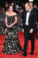 Duke and Duchess of Cambridge<br /> at the 2017 BAFTA Film Awards held at The Royal Albert Hall, London.<br /> <br /> <br /> &copy;Ash Knotek  D3225  12/02/2017
