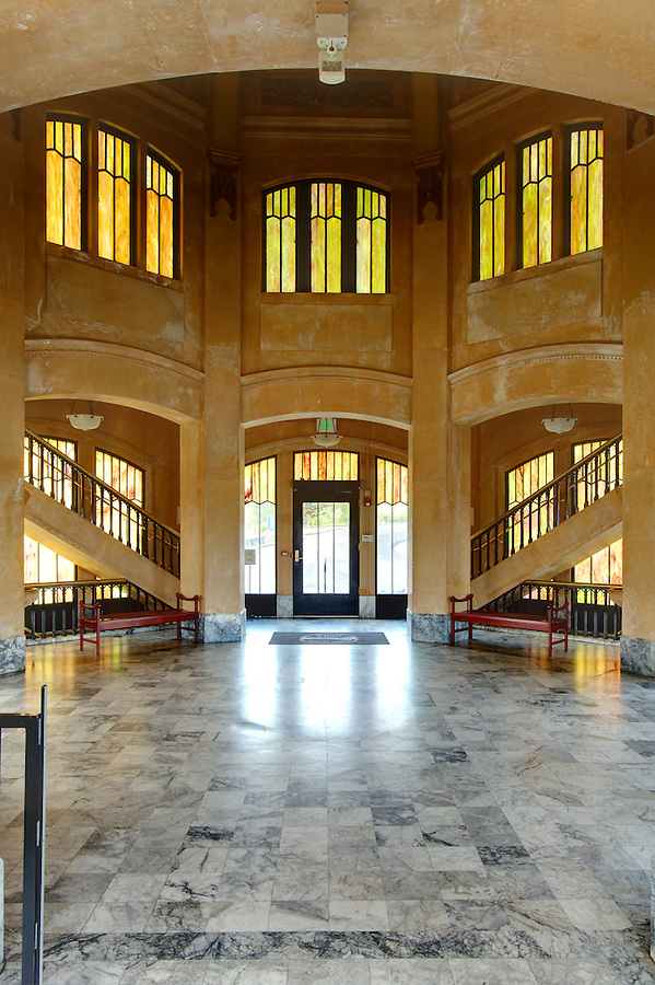 Interior of Vista House on Crown Point, Columbia River Gorge National Scenic Area, Oregon, USA