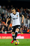 Rodrigo Moreno of Valencia CF (R) fights for the ball with Alvaro Gonzalez Soberon of Villarreal CF (L) during the La Liga 2017-18 match between Valencia CF and Villarreal CF at Estadio de Mestalla on 23 December 2017 in Valencia, Spain. Photo by Maria Jose Segovia Carmona / Power Sport Images