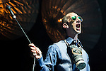 "© Joel Goodman - 07973 332324 . 14/05/2016 . Manchester , UK . RICHARD ASHCROFT , wearing a gas mask around his neck , performs live at the Albert Hall in Manchester , in the first of two gigs (the other at the Roundhouse in Camden in London ) ahead of the release of his first new album in sex years , entitled "" These People "" . Photo credit : Joel Goodman"