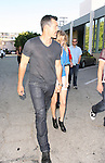 June 23rd 2012  ...LeAnn Rimes wearing a blue leather jacket with zippers & a short white lace skirt black boots laughing smiling walking in Beverly Hills with Eddie Cibrian ....AbilityFilms@yahoo.com.805-427-3519.www.AbilityFilms.com..
