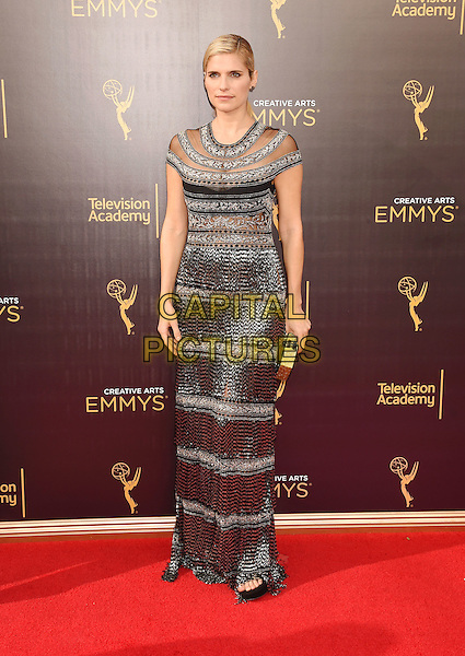 LOS ANGELES, CA - SEPTEMBER 11: Actress Lake Bell attends the 2016 Creative Arts Emmy Awards held at Microsoft Theater on September 11, 2016 in Los Angeles, California.<br /> CAP/ROT/TM<br /> &copy;TM/ROT/Capital Pictures