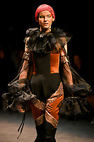 7 September 2017, Melbourne - Model parades design by student Sophie Rodriguez during the Melbourne Fashion Week in Melbourne, Australia. (Photo Sydney Low / asteriskimages.com)