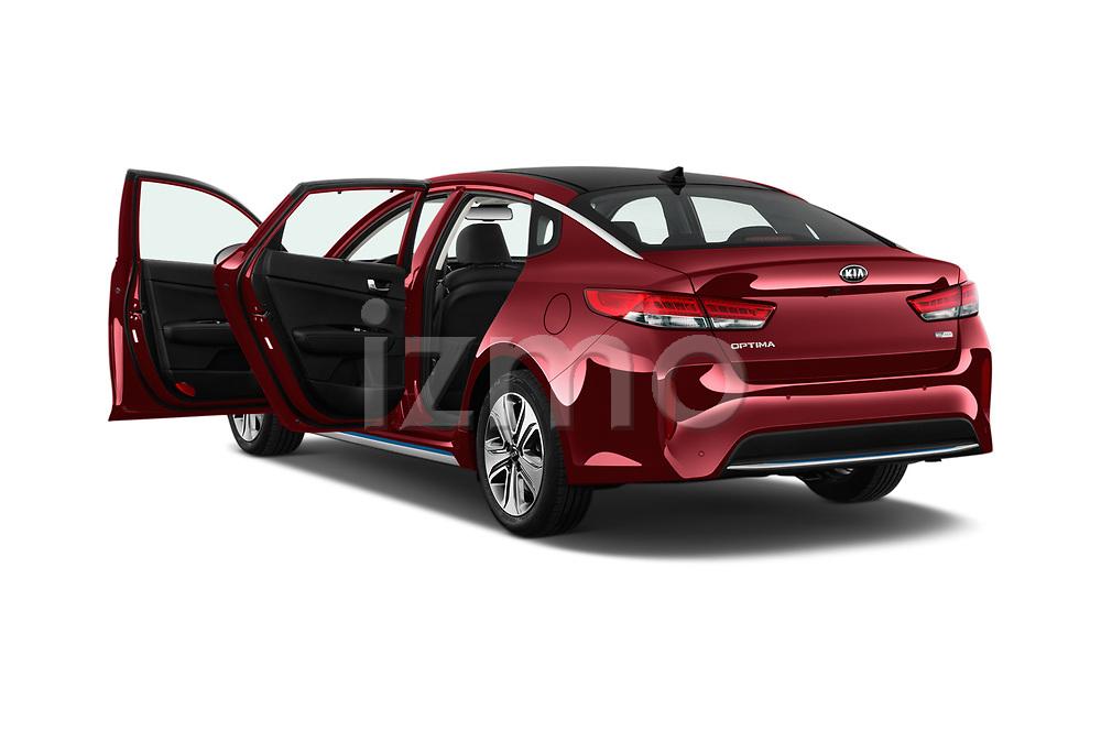 Car images close up view of a 2017 KIA Optima Plug-In Hybrid Fusion 4 Door Sedan doors