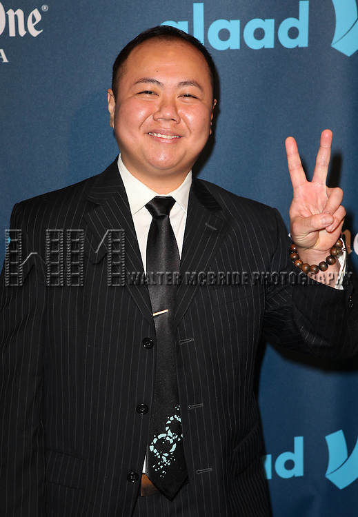 Kit Yan attending the 24th Annual GLAAD Media Awards at the Marriott Marquis Hotel in New York City on 3/16/2013.