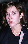 Carrie Fisher photographed on October 15 1, 1987 in New York City.