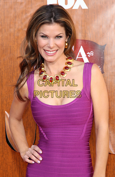 Jamie Little.2011 American Country Awards at the MGM Grand Casino Resort, Las Vegas, Nevada, USA..December 5th, 2011.half length purple pink fuschia dress necklace hand on hip red gold .CAP/ADM/MJT.© MJT/AdMedia/Capital Pictures.
