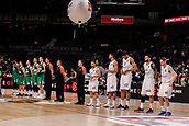 22nd March 2018, Wizink Centre, Madrid, Spain; Turkish Airlines Euroleague Basketball, Real Madrid versus Zalgiris Kaunas; Team Group Line-up
