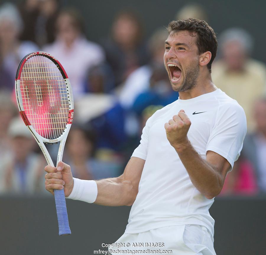 GRIGOR DIMITROV (BUL)<br /> <br /> The Championships Wimbledon 2014 - The All England Lawn Tennis Club -  London - UK -  ATP - ITF - WTA-2014  - Grand Slam - Great Britain -  27th June 2014. <br /> <br /> &copy; AMN IMAGES