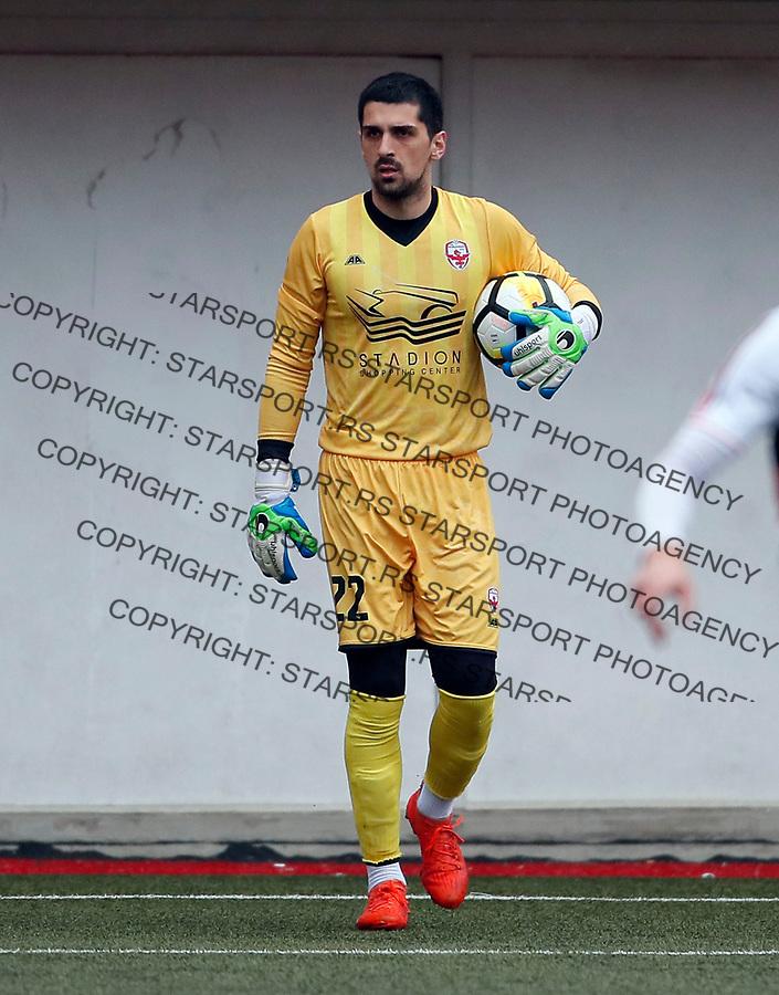 Marko Knezevic Vozdovac - Cukaricki super liga Srbije 5.4.1018. April 5. 2018. (credit image & photo: Pedja Milosavljevic / STARSPORT)
