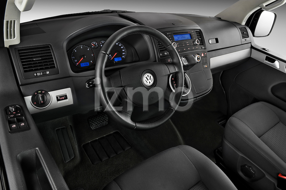 High angle dashboard view of a 2010 Volkswagen Multivan Shuttle Comfortline Minivan