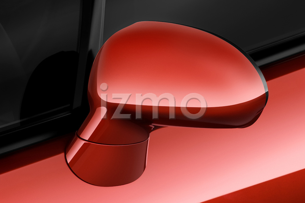 Closeup detail of the side mirror on a 2009 Mitsubishi Eclipse GT Spyder Convertible