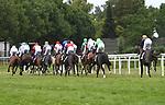 03.07.2019,  GER;  Idee 150. Deutsches Derby 2019, im Bild Feature die Pferde mit Reiter von hinten Foto © nordphoto / Witke *** Local Caption ***