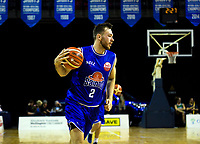 Nick Kay warms up during the national basketball league match between Cigna Wellington Saints and Hawkes Bay Hawks at TSB Bank Arena in Wellington, New Zealand on Friday, 12 April 2019. Photo: Dave Lintott / lintottphoto.co.nz