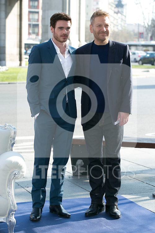 Kenneth Branagh and Richard Madden attend the Cinderella Movie Presentation at Puerta de Alcala, Madrid,  Spain. March 16, 2015.(ALTERPHOTOS/)Carlos Dafonte)