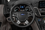 Car pictures of steering wheel view of a 2019 Ford Transit-Connect XLT 5 Door Combi Steering Wheel