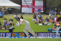 England's Ollie Pope bats during day two of the international cricket 1st test match between NZ Black Caps and England at Bay Oval in Mount Maunganui, New Zealand on Friday, 22 November 2019. Photo: Dave Lintott / lintottphoto.co.nz