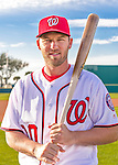28 February 2016: Washington Nationals shortstop Stephen Drew poses for his Spring Training Photo-Day portrait at Space Coast Stadium in Viera, Florida. Mandatory Credit: Ed Wolfstein Photo *** RAW (NEF) Image File Available ***