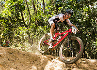 Picture by Alex Broadway/SWpix.com - 08/09/17 - Cycling - UCI 2017 Mountain Bike World Championships - XCO - Cairns, Australia - Sam Gaze of New Zealand competes in the Men's Under 23 World Championship Race.