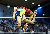 2nd February 2019, Karlsruhe, Germany;  High jump men: Gianmarco Tamberi (ITA). IAAF Indoor athletics meeting, Karlsruhe