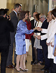 King Felipe VI of Spain, Queen Sofia and Queen Letizia of Spain attend the 40th anniversary of Reina Sofia Alzheimer Foundation. May 21 ,2017. (ALTERPHOTOS/Pool)