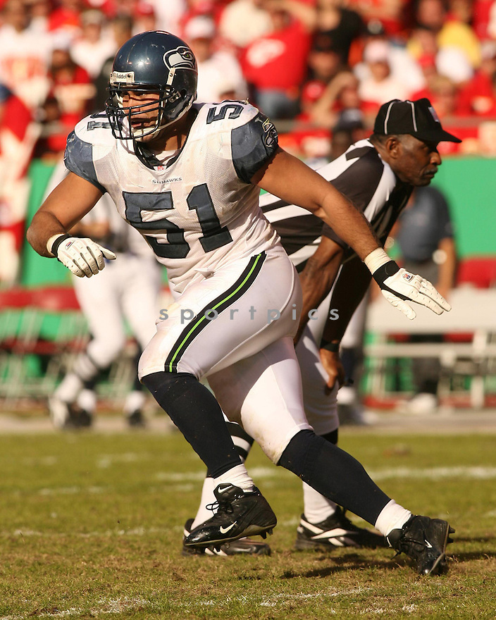 LOFA TATUPU, of the Seattle Seahawks in action against the Kansas City Chiefs on October 29, 2006 in Kansas City, MO...Chiefs win 35-28..Kevin Tanaka/ SportPics