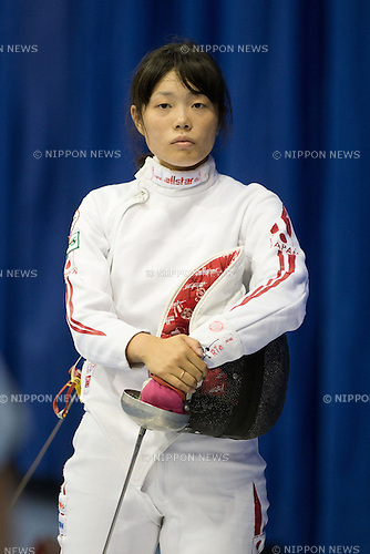Rie Ohashi (JPN),<br /> AUGUST 5, 2013 - Fencing :<br /> World Fencing Championships Budapest 2013, Women's Individual Epee Qualifications at Syma Hall in Budapest, Hungary. (Photo by Enrico Calderoni/AFLO SPORT) [0391]