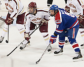 Brooks Dyroff (BC - 14), Derek McCoy (UML - 5) - The Boston College Eagles defeated the visiting University of Massachusetts Lowell River Hawks 6-3 on Sunday, October 28, 2012, at Kelley Rink in Conte Forum in Chestnut Hill, Massachusetts.