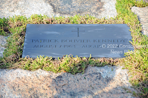 Arlington, VA - August 27, 2009 -- Marker for the grave of Patrick Bouvier Kennedy, the infant son of United States President John F. Kennedy and first lady Jacqueline Bouvier Kennedy who died at 2 days old at the Kennedy Gravesite at Arlington National Cemetery in Arlington, Virginia on Thursday, August 27, 2009..Credit: Ron Sachs / CNP.(RESTRICTION: NO New York or New Jersey Newspapers or newspapers within a 75 mile radius of New York City)