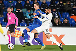Getafe CF's Nemanja Maksimovic (l) and FC Krasnodar's Wanderson Maciel during UEFA Europa League match. December 12,2019. (ALTERPHOTOS/Acero)