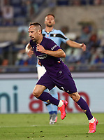 Football, Serie A: S.S. Lazio - Fiorentina, Olympic stadium, Rome, June 27, 2020. <br /> Fiorentina's Frank-Henry Ribéry celebrates after scoring during the Italian Serie A football match between S.S. Lazio and Fiorentina at Rome's Olympic stadium, Rome, on June 27, 2020. <br /> UPDATE IMAGES PRESS/Isabella Bonotto