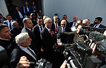 Palestinian Prime Minister, Rami Hamdallah, attends the opening of dairy products, in the West Bank city of Tulkarem, on January 26, 2019. Photo by Prime Minister Office