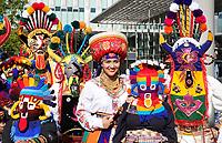 Nederland Amsterdam-  juli 2018.    Amsterdam viert 50 jaar Bijlmer. De SouthEast Parade. Deze parade wordt georganiseerd om de diversiteit van Amsterdam Zuidoost te onderstrepen. Groep met roots in Ecuador.   Foto mag niet in negatieve context gepubliceerd worden.     Foto Berlinda van Dam /  Hollandse Hoogte