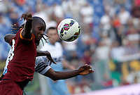 Calcio, Serie A: Lazio vs Roma. Roma, stadio Olimpico, 25 maggio 2015.<br /> Roma's Victor Ibarbo controls the ball during the Italian Serie A football match between Lazio and Roma at Rome's Olympic stadium, 25 May 2015.<br /> UPDATE IMAGES PRESS/Isabella Bonotto