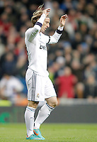 Real Madrid's Luka Modric dejected during La Liga match. December 16, 2012. (ALTERPHOTOS/Alvaro Hernandez)