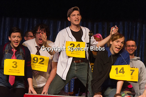 The Hyde Park Community Players performed the comedy musical, &ldquo;The 25th Annual Putnam County Spelling Bee&rdquo; this weekend at the University Church located at 57th and Greenwood.<br /> <br /> 2296 - Geoff Purvis as Chip Antonio<br /> <br /> Please 'Like' &quot;Spencer Bibbs Photography&quot; on Facebook.<br /> <br /> All rights to this photo are owned by Spencer Bibbs of Spencer Bibbs Photography and may only be used in any way shape or form, whole or in part with written permission by the owner of the photo, Spencer Bibbs.<br /> <br /> For all of your photography needs, please contact Spencer Bibbs at 773-895-4744. I can also be reached in the following ways:<br /> <br /> Website &ndash; www.spbdigitalconcepts.photoshelter.com<br /> <br /> Text - Text &ldquo;Spencer Bibbs&rdquo; to 72727<br /> <br /> Email &ndash; spencerbibbsphotography@yahoo.com