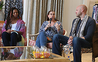 PACIFIC PALISADES, CA -June 28: Rebecca Watson, Felicia Tomasko, Blake Shields Abramovitz, at Elisabeth Rohm ihosts a RESPECT TALK on How To Cultivate More Bliss in Today's World at Veronica Beard in Pacific Palisades California on June 28, 2020. Credit: Faye Sadou/MediaPunch
