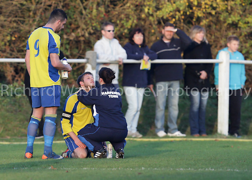 Harpenden Town Football Club vs St Albans City Reserves Football Club  19th November 2011..Photo: Richard Washbrooke Photography 120th Anniversary Celebrations